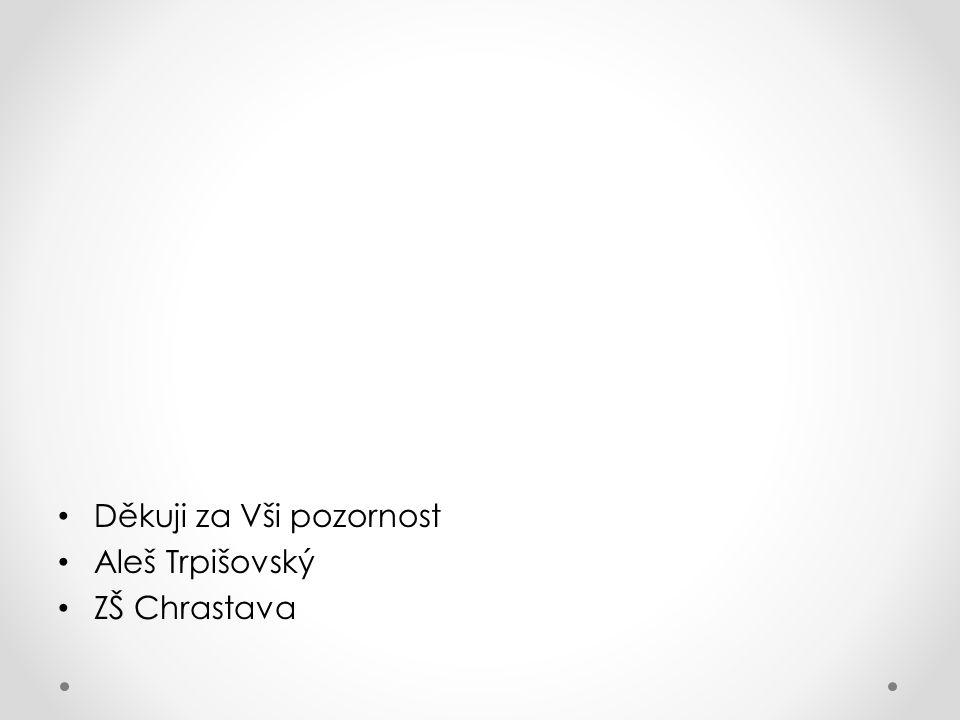 Děkuji za Vši pozornost Aleš Trpišovský ZŠ Chrastava