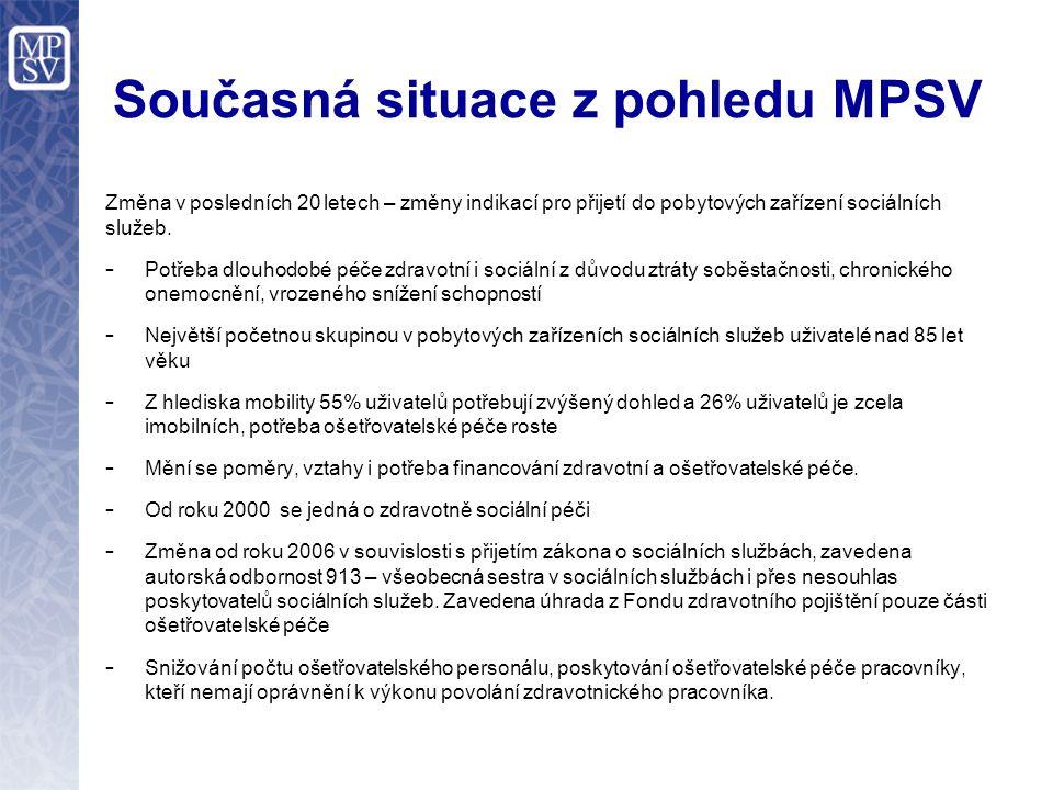Ošetřovatelská péče Druh zdravotní péče podle zákona č.