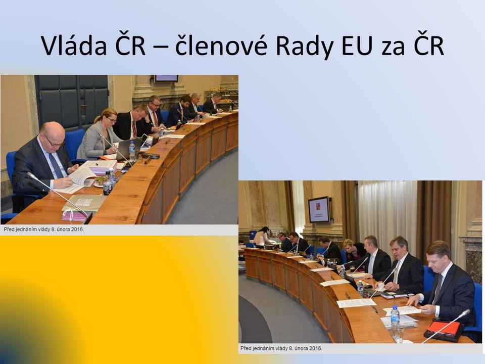 Vláda ČR – členové Rady EU za ČR