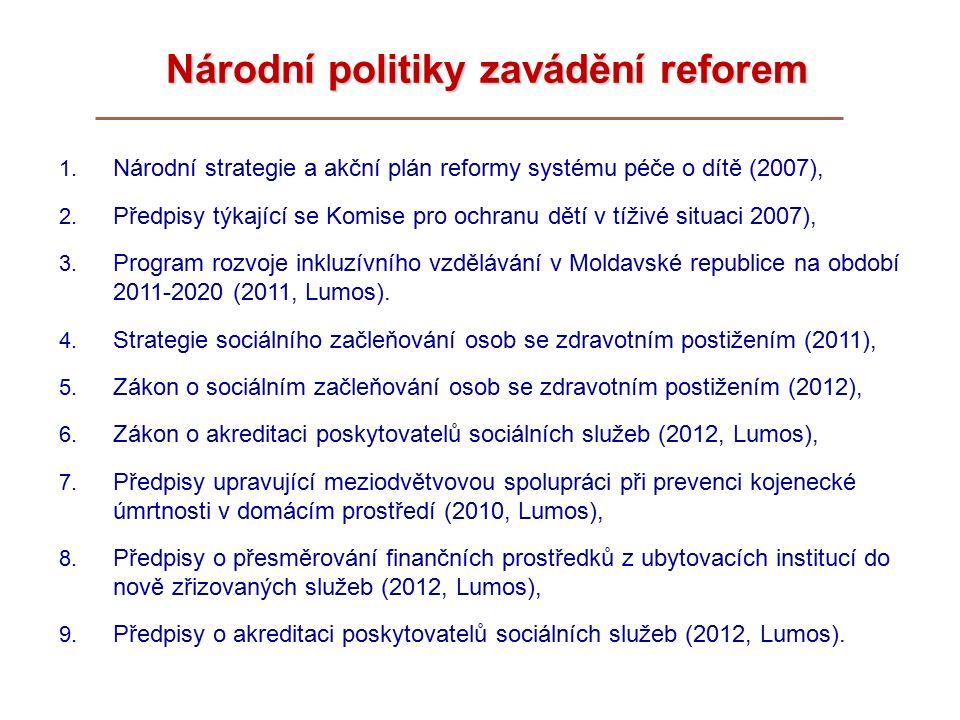 Národní politiky zavádění reforem 1.