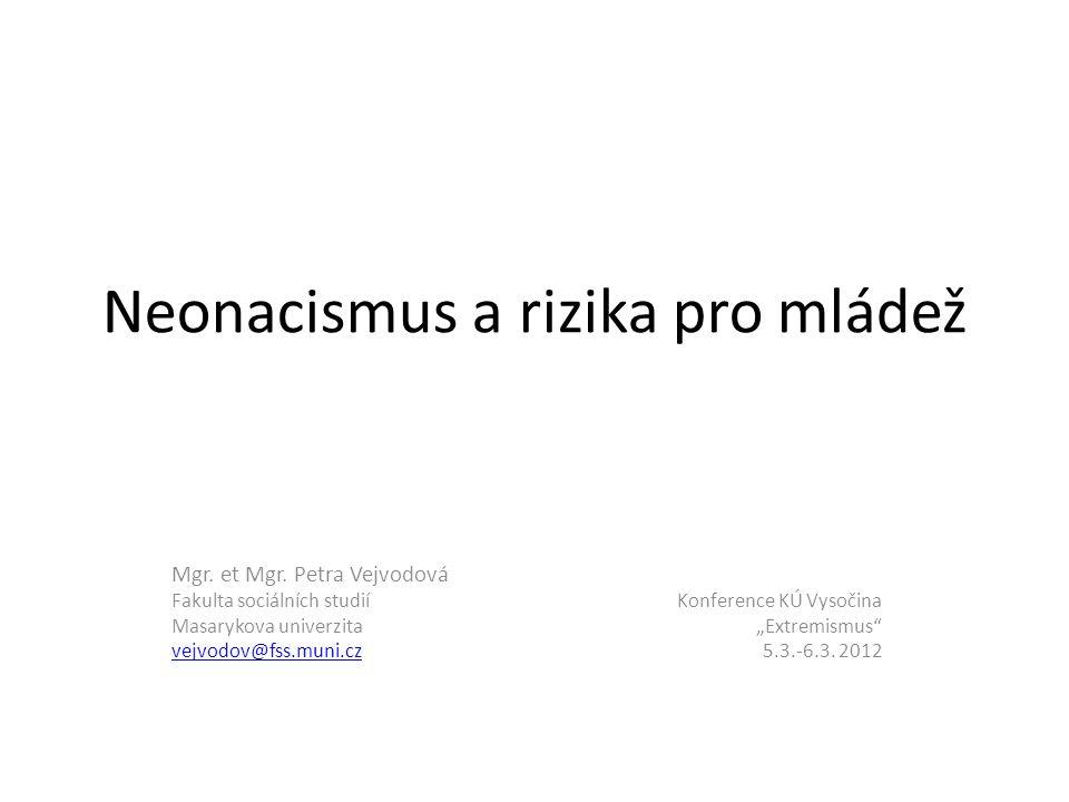 Neonacismus a rizika pro mládež Mgr. et Mgr.