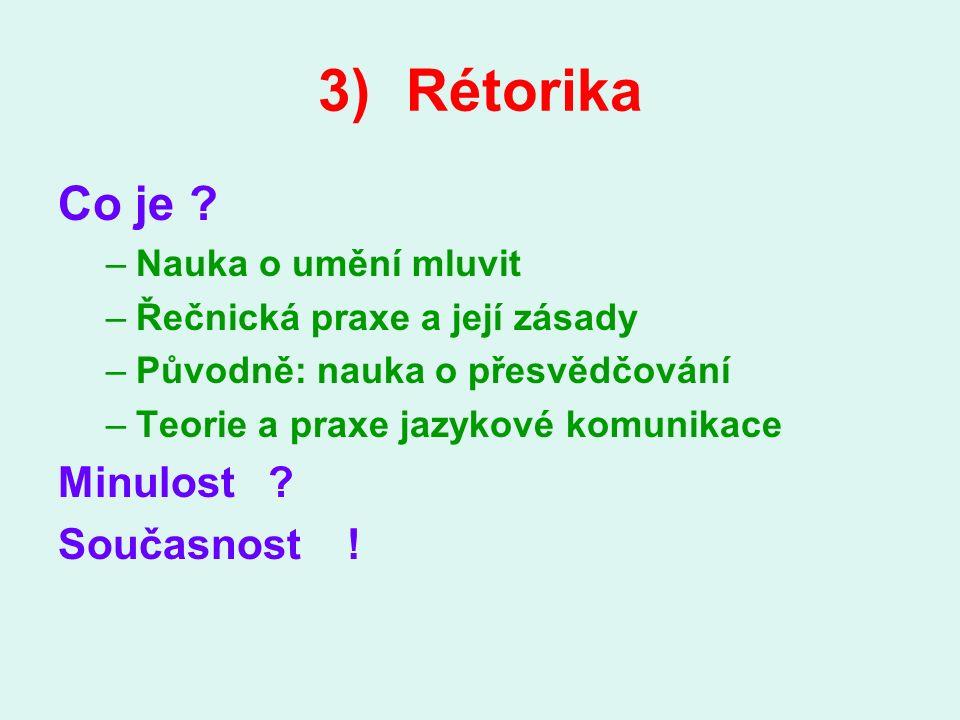 3)Rétorika Co je .