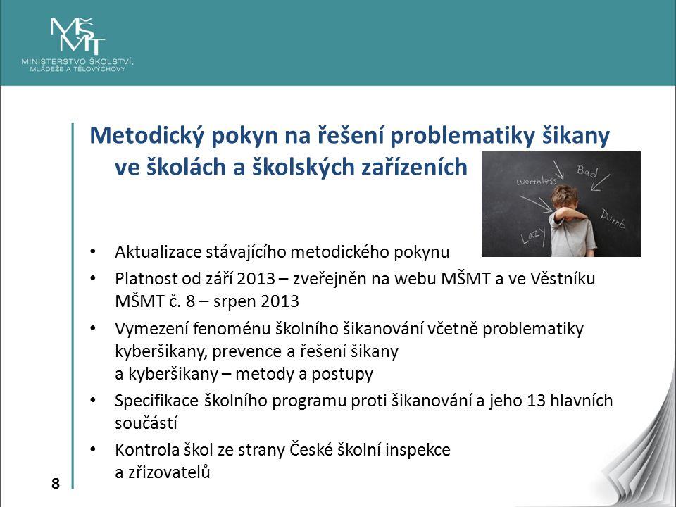 9 Metodické doporučení MŠMT k IVýP http://www.msmt.cz/vzdelavani/zakladni-vzdelavani/individualni- vychovny-plan http://www.msmt.cz/vzdelavani/zakladni-vzdelavani/individualni- vychovny-plan Platnost od 3.