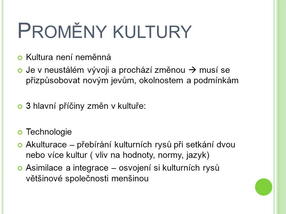 M ASOVÁ KULTURA Společnost 20.st.