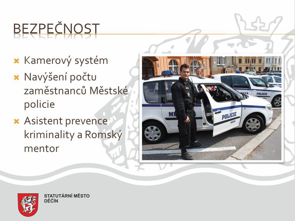  Kamerový systém  Navýšení počtu zaměstnanců Městské policie  Asistent prevence kriminality a Romský mentor