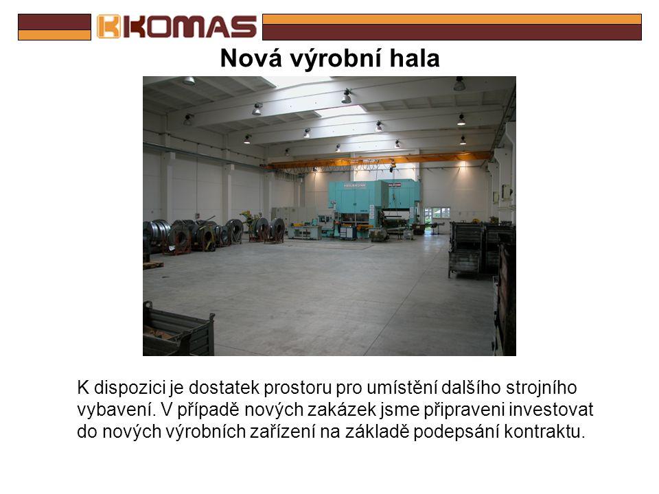 Nová výrobní hala - půdorys Rozměry haly: délka – 38m šířka – 22m výška – 9.5m využitelný prostor – ca 800m 2