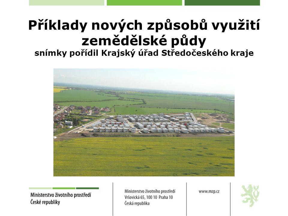 Příklady nových způsobů využití zemědělské půdy snímky pořídil Krajský úřad Středočeského kraje