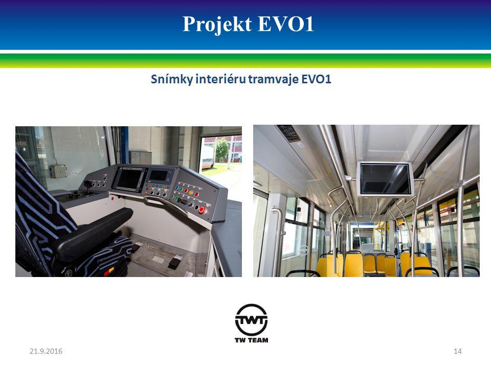 Projekt EVO1 Snímky interiéru tramvaje EVO1 21.9.201614