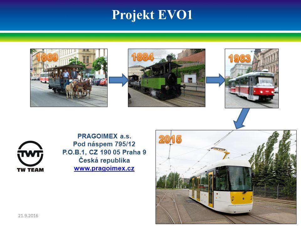 Projekt EVO1 PRAGOIMEX a.s. Pod náspem 795/12 P.O.B.1, CZ 190 05 Praha 9 Česká republika www.pragoimex.cz 21.9.201618