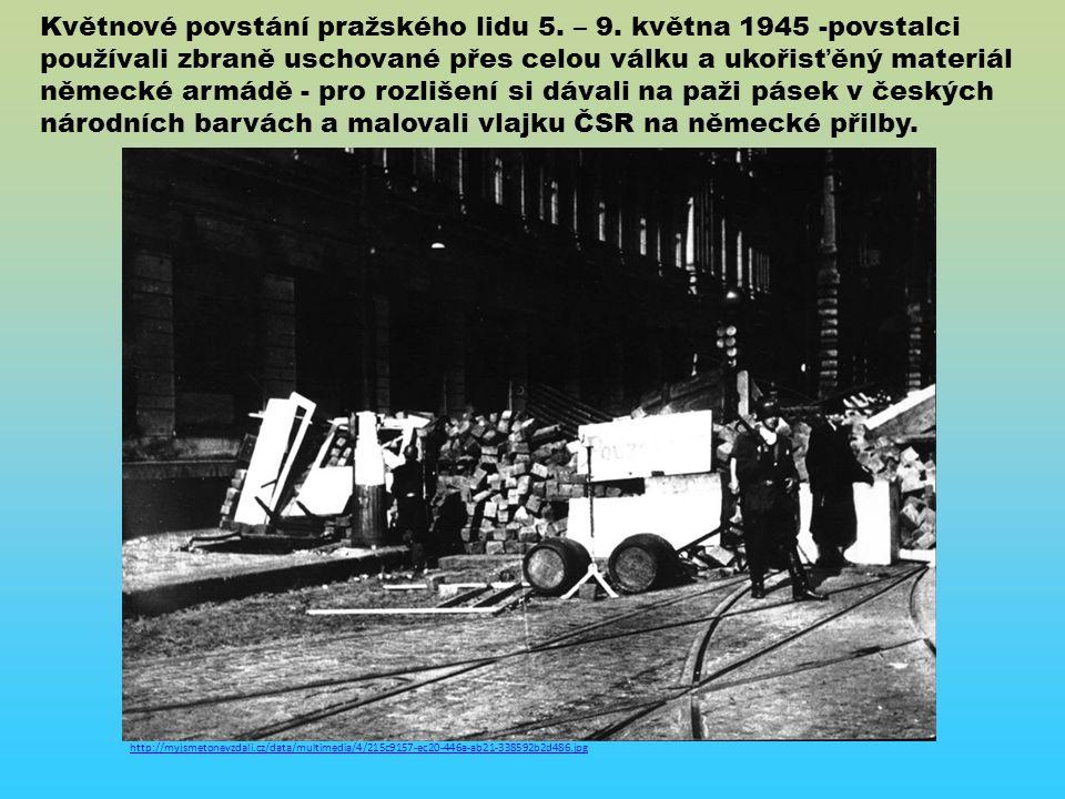 Květnové povstání pražského lidu 5.– 9.