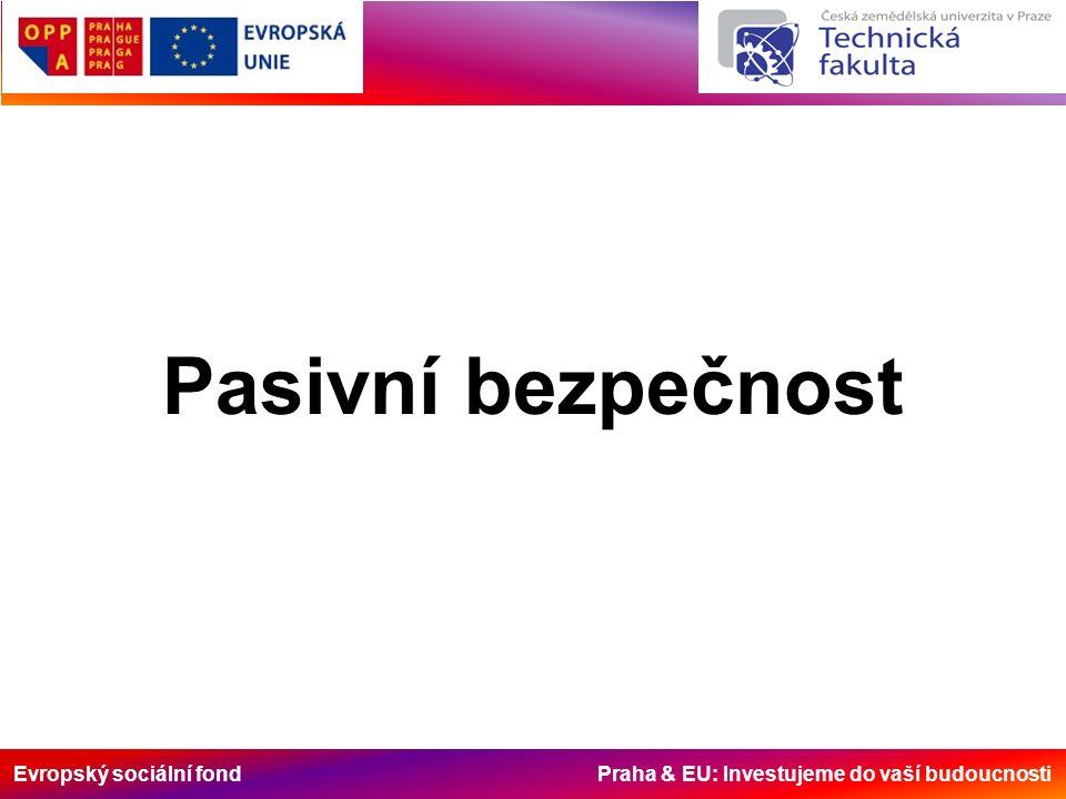 Evropský sociální fond Praha & EU: Investujeme do vaší budoucnosti Pasivní bezpečnost