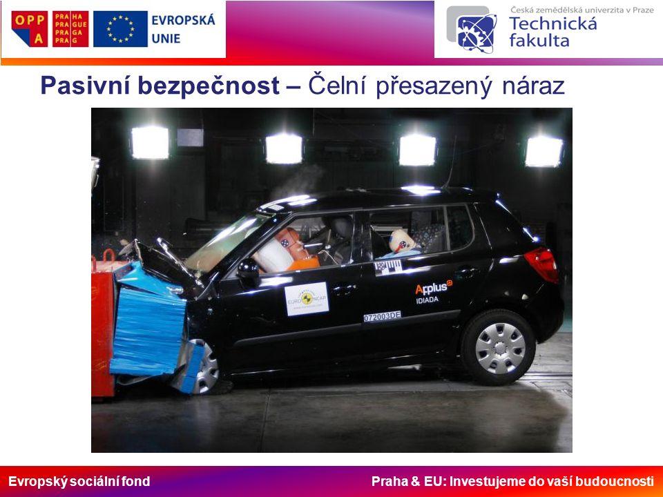 Evropský sociální fond Praha & EU: Investujeme do vaší budoucnosti Pasivní bezpečnost – Čelní přesazený náraz