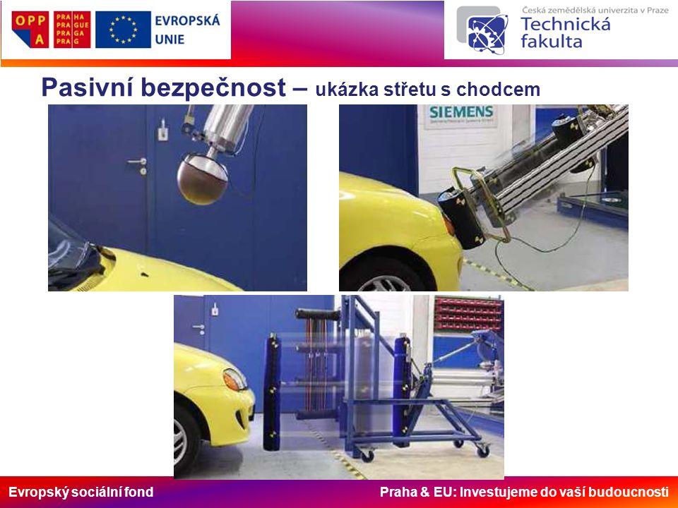 Evropský sociální fond Praha & EU: Investujeme do vaší budoucnosti Pasivní bezpečnost – ukázka střetu s chodcem