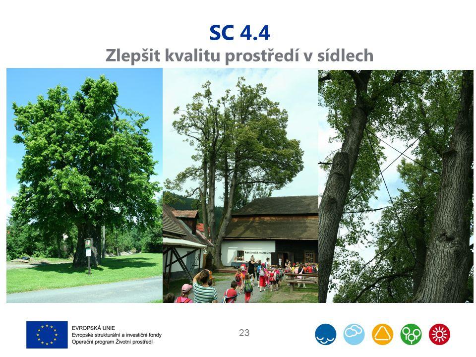 SC 4.4 Zlepšit kvalitu prostředí v sídlech 23