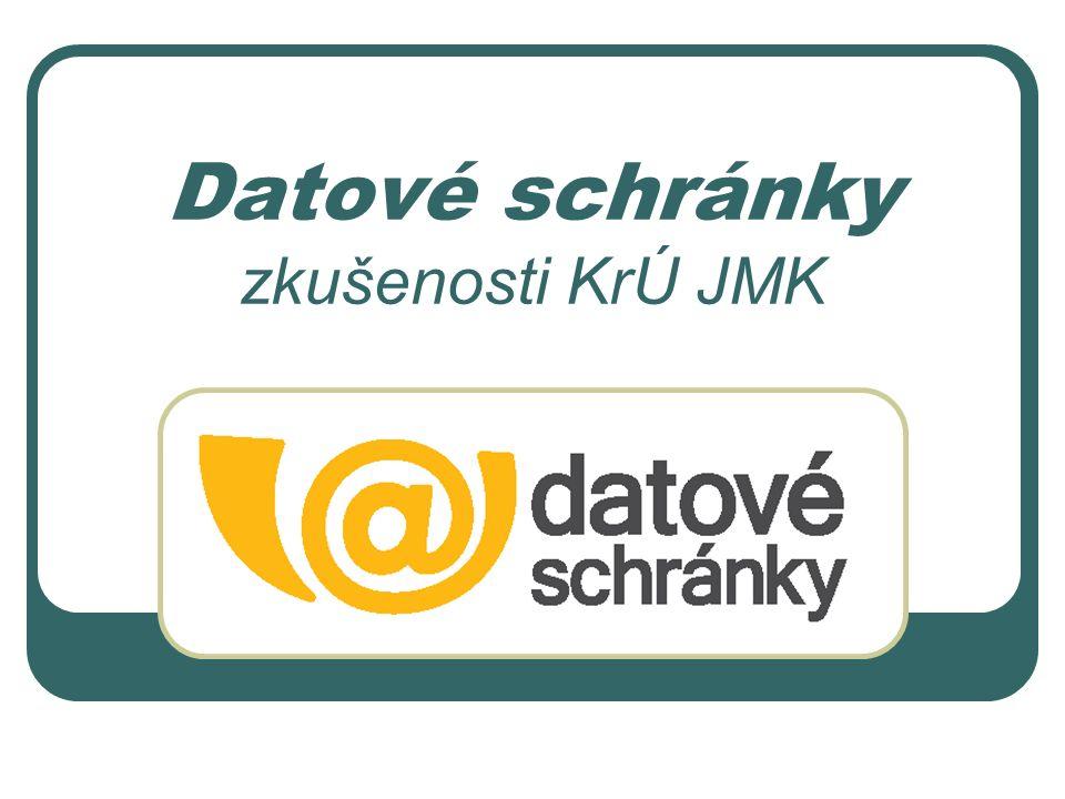 Datové schránky zkušenosti KrÚ JMK