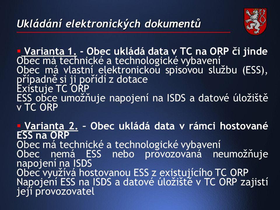 Ukládání elektronických dokumentů  Varianta 1.
