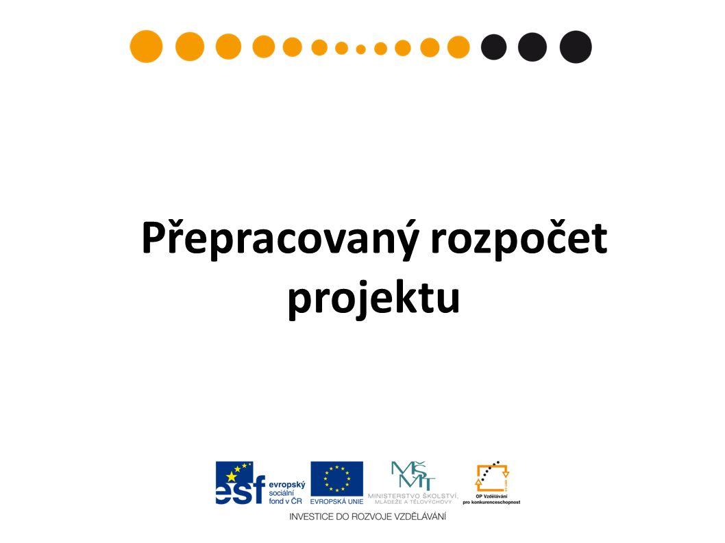 Přepracovaný rozpočet projektu