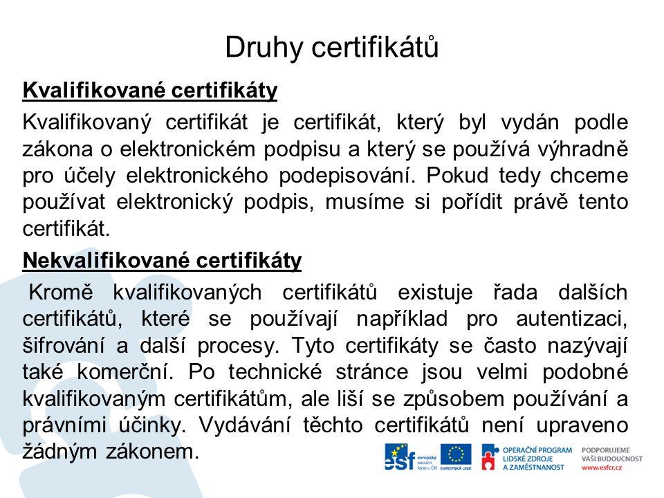 3.Print2PDF Výběr certifikátu – k podpisu slouží Kvalifikovaný, dnes CA2 – pozor na data platnost.