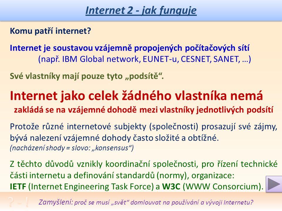Internet 2 - jak funguje Komu patří internet.