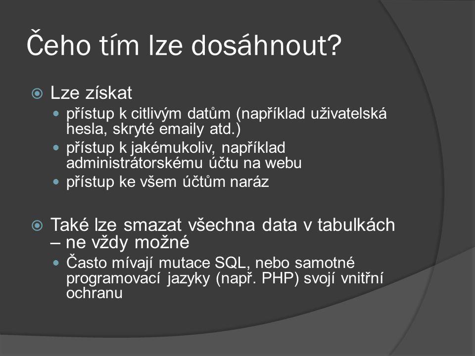 Ošetření vstupů  Odstranění nebezpečných znaků Uvozovky Středníky  Kontrola datových typů select * from clanky where id= $id