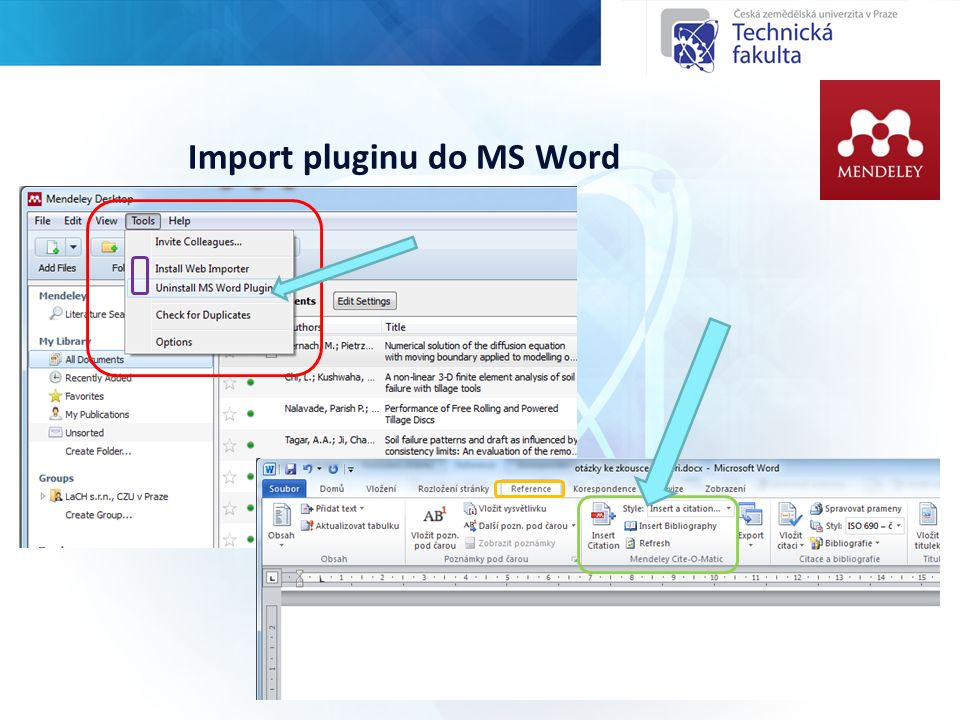 Import pluginu do MS Word