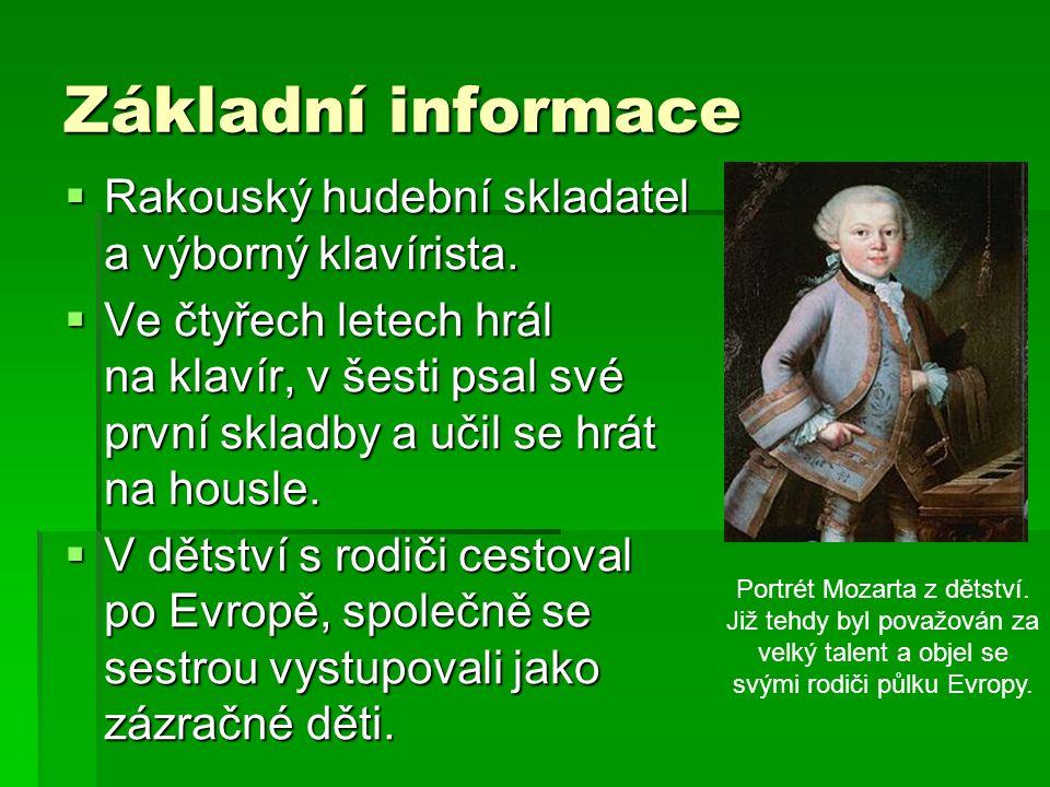 Základní informace  Rakouský hudební skladatel a výborný klavírista.
