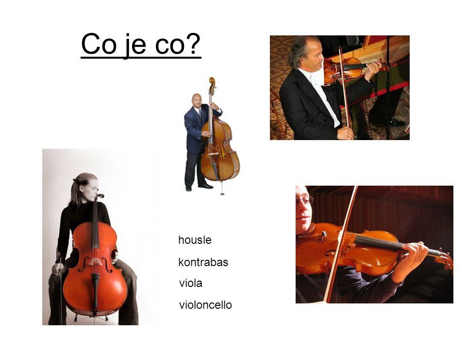 Co je co housle kontrabas viola violoncello