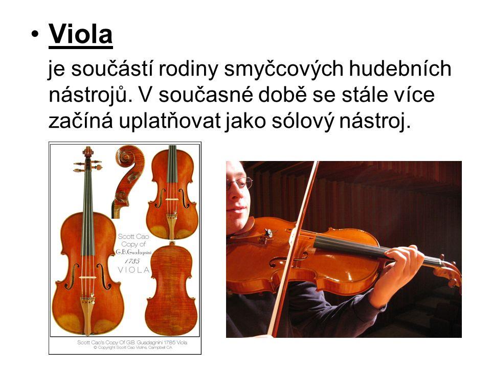 Violoncello Violoncello si svou oblibu vydobylo nejen historicky, ale také díky svým zvukově barevným možnostem.