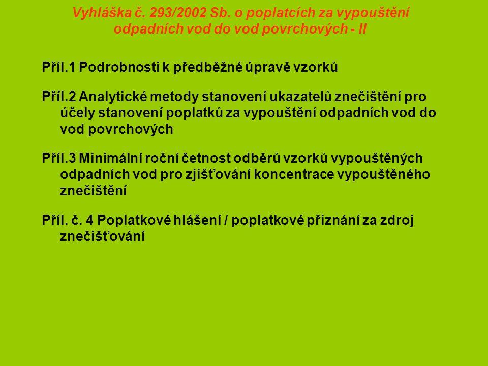 Vyhláška č. 293/2002 Sb.