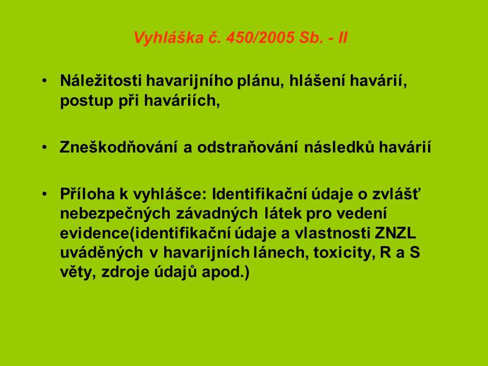 Vyhláška č. 450/2005 Sb.