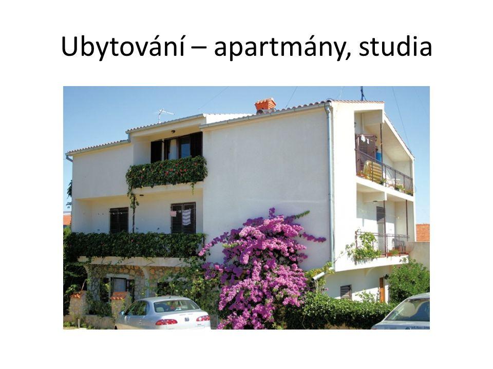 Ubytování – apartmány, studia