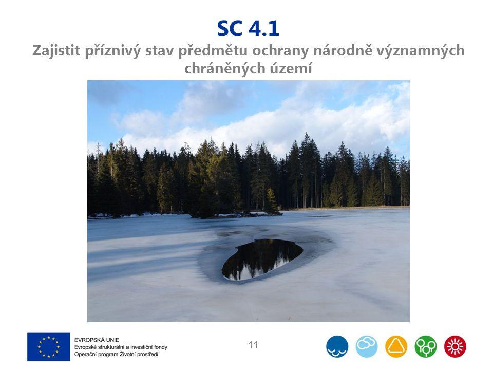 SC 4.1 Zajistit příznivý stav předmětu ochrany národně významných chráněných území 11