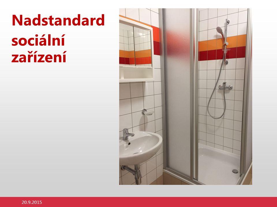 Nadstandard sociální zařízení 20.9.2015