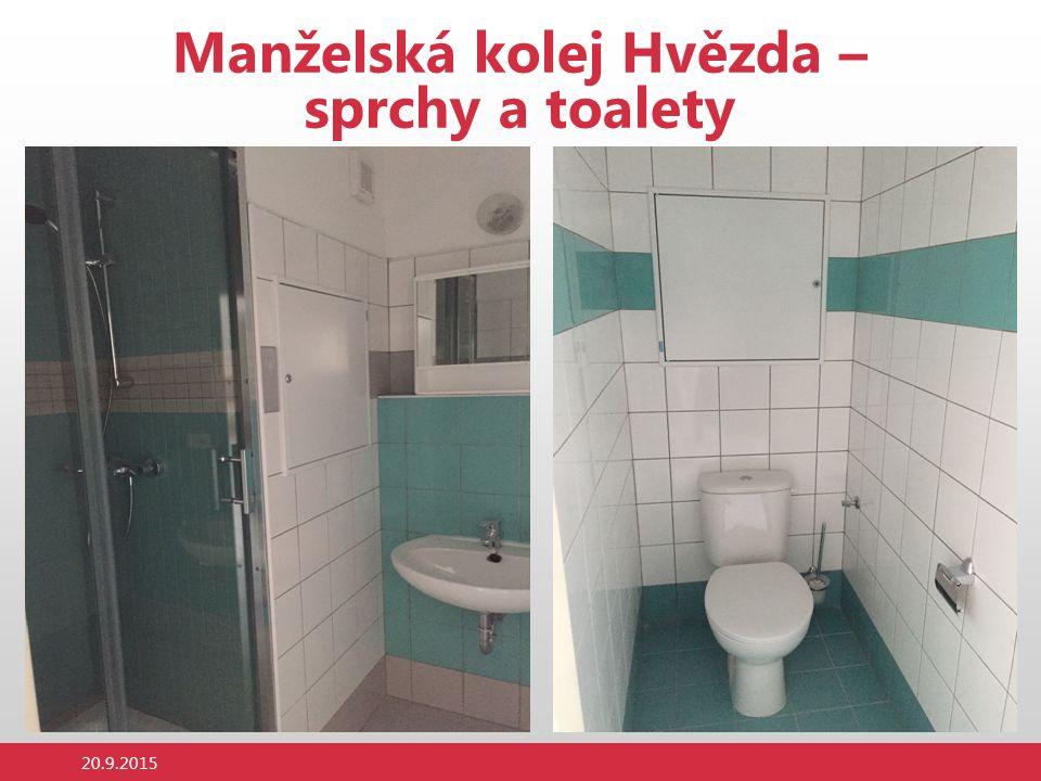 Manželská kolej Hvězda – sprchy a toalety 20.9.2015
