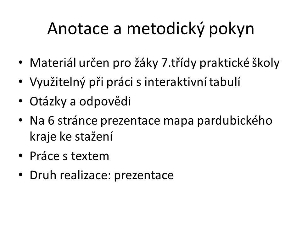 Pardubický kraj leží převážně na východě Čech zasahuje na historické území Moravy sousedí s Olomouckým krajem, Jihomoravským krajem, s Vysočinou, se Středočeským krajem, s Královéhradeckým krajem a s polským Dolnoslezským vojvodstvím krajským městem jsou Pardubice pardubické staré město je od roku 1964 městskou památkovou rezervací.