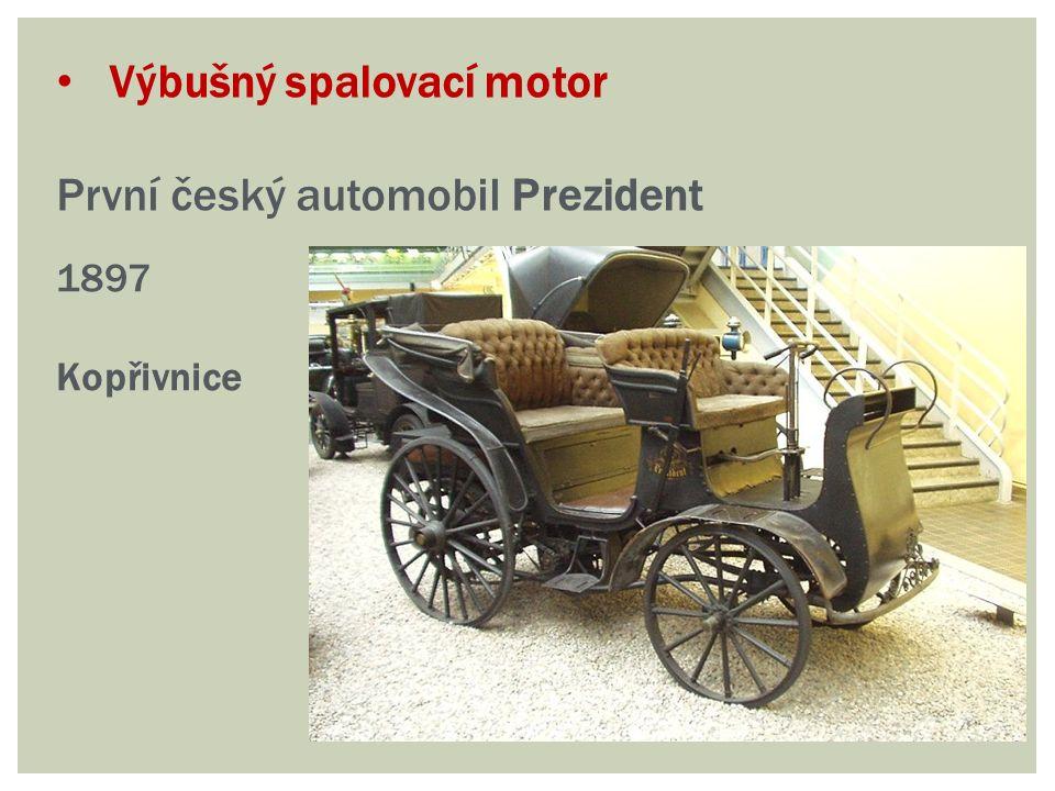 Výbušný spalovací motor První český automobil Prezident 1897 Kopřivnice