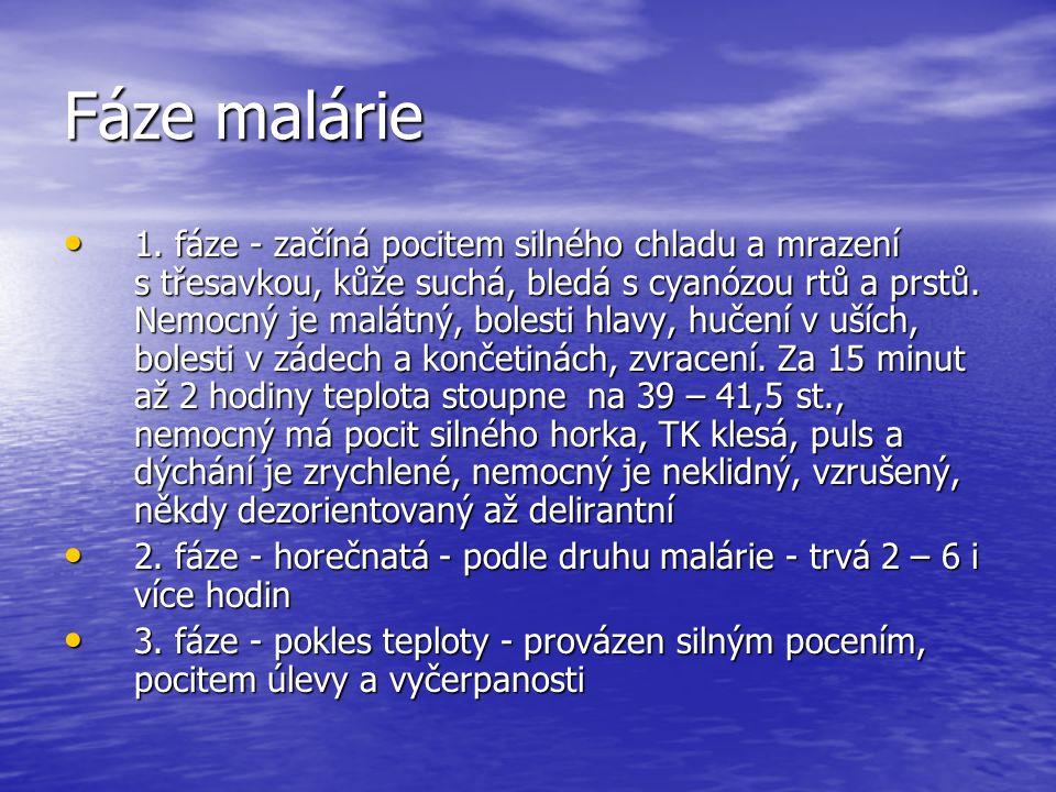 Fáze malárie 1.