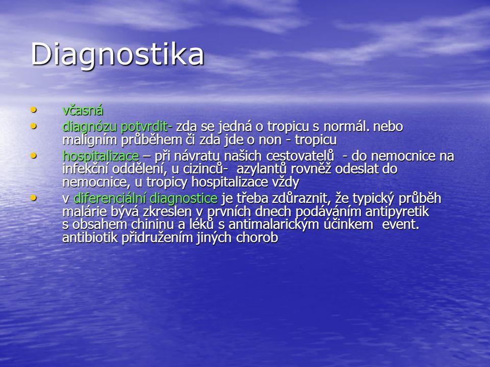 Diagnostika včasná včasná diagnózu potvrdit- zda se jedná o tropicu s normál.