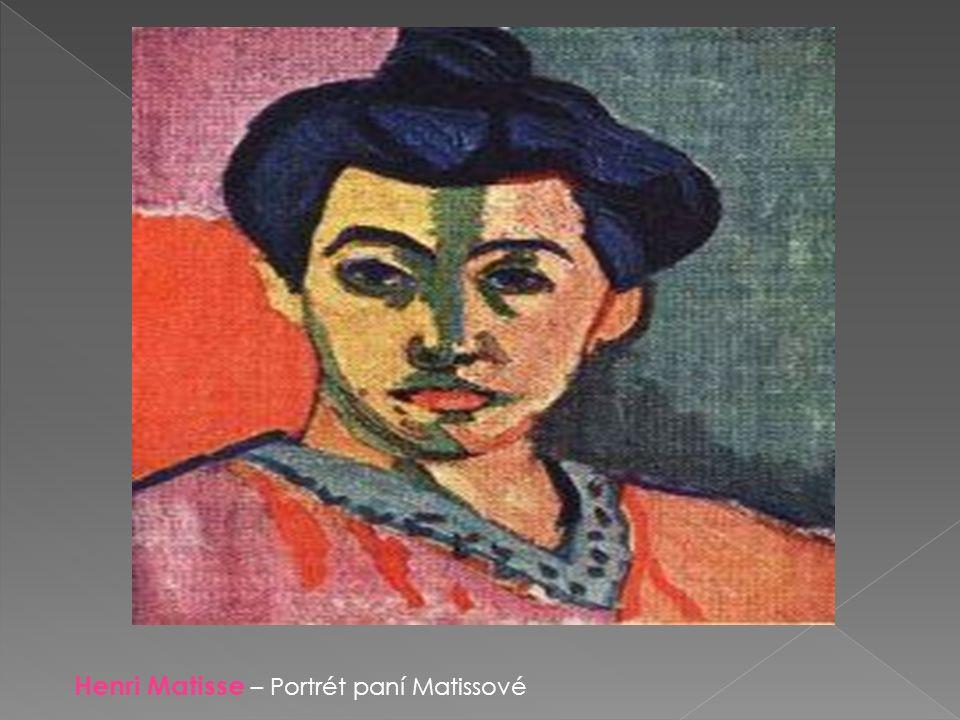 Henri Matisse – Portrét paní Matissové