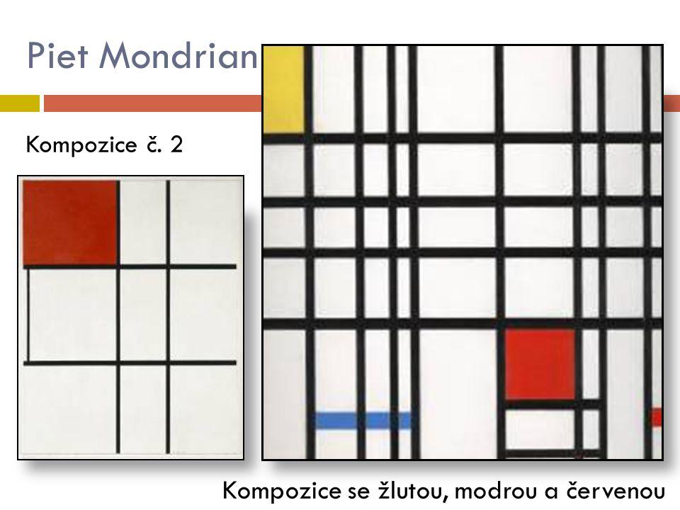 Piet Mondrian Kompozice se žlutou, modrou a červenou Kompozice č. 2