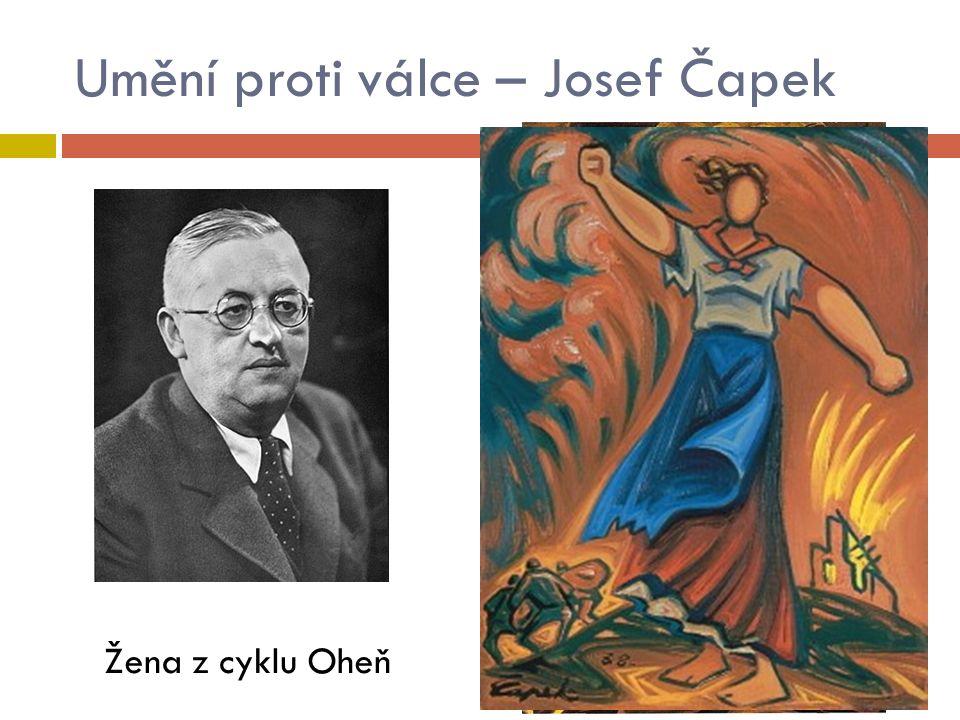 Umění proti válce – Josef Čapek Žena z cyklu Oheň