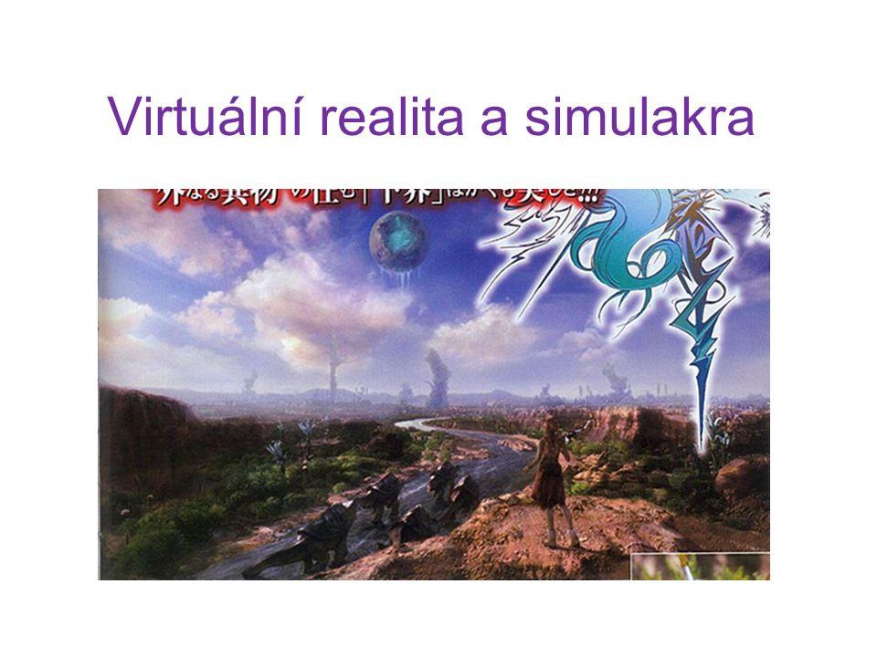 Virtualita Definice virtuality dle Nicholase Mirzoeffa (Úvod do vizuální kultury): obraz nebo prostor, který není reálný, ale jeví se, jako by byl.