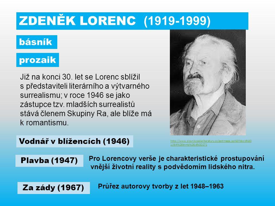ZDENĚK LORENC (1919-1999) Již na konci 30.