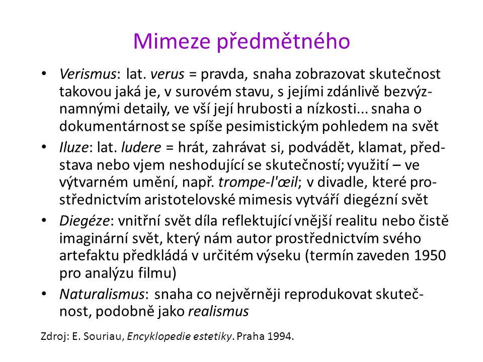 Mimeze předmětného Verismus: lat.