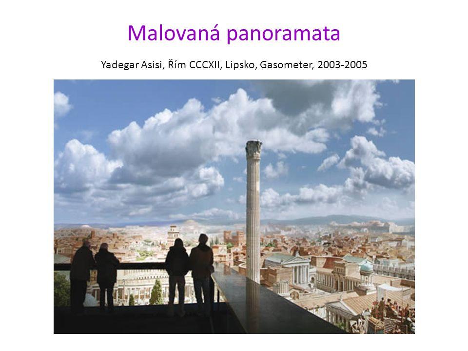 Malovaná panoramata Yadegar Asisi, Řím CCCXII, Lipsko, Gasometer, 2003-2005