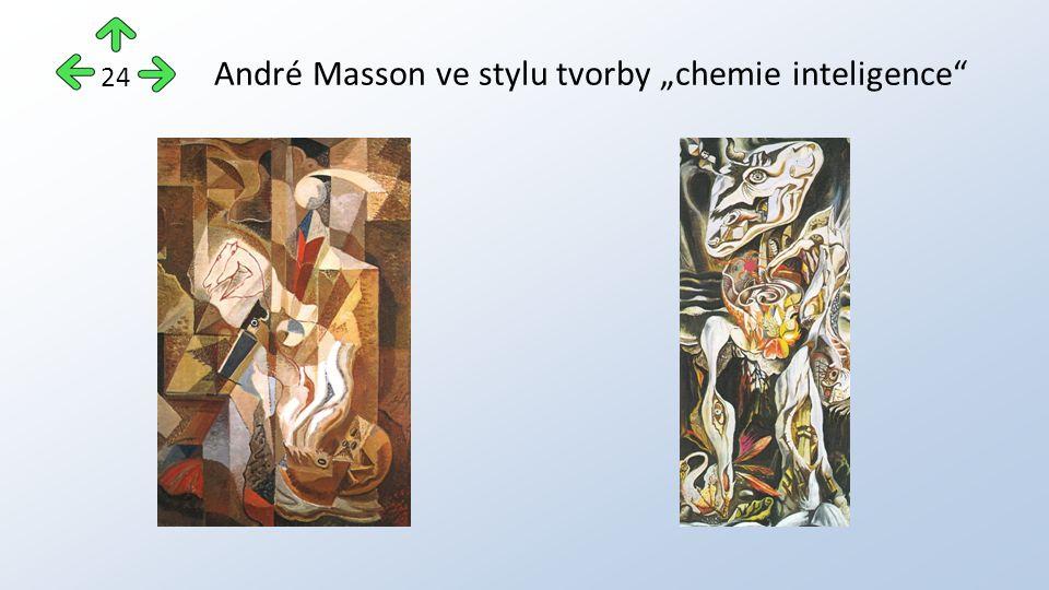 """André Masson ve stylu tvorby """"chemie inteligence 24"""