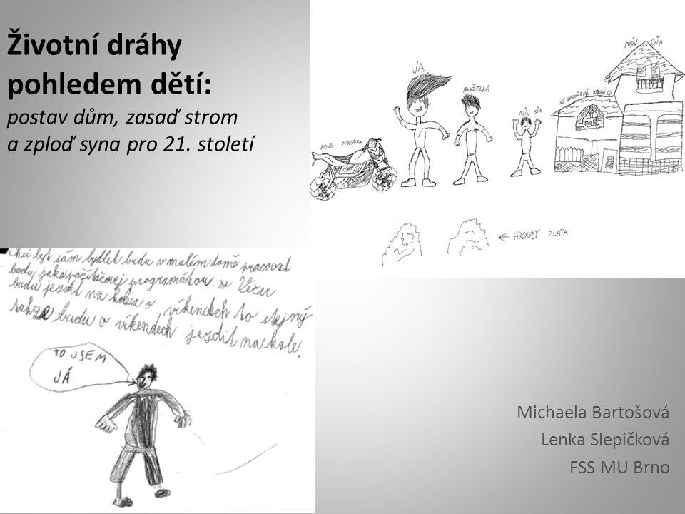 Životní dráhy pohledem dětí: postav dům, zasaď strom a zploď syna pro 21. století Michaela Bartošová Lenka Slepičková FSS MU Brno