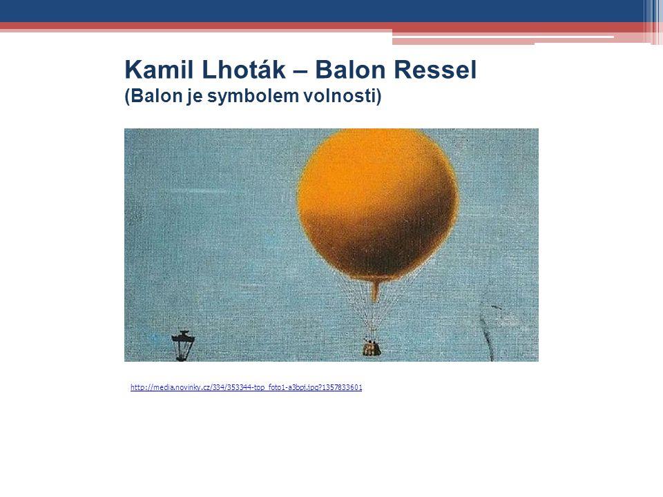 Kamil Lhoták – Balon Ressel (Balon je symbolem volnosti) http://media.novinky.cz/334/353344-top_foto1-a3bpj.jpg?1357833601