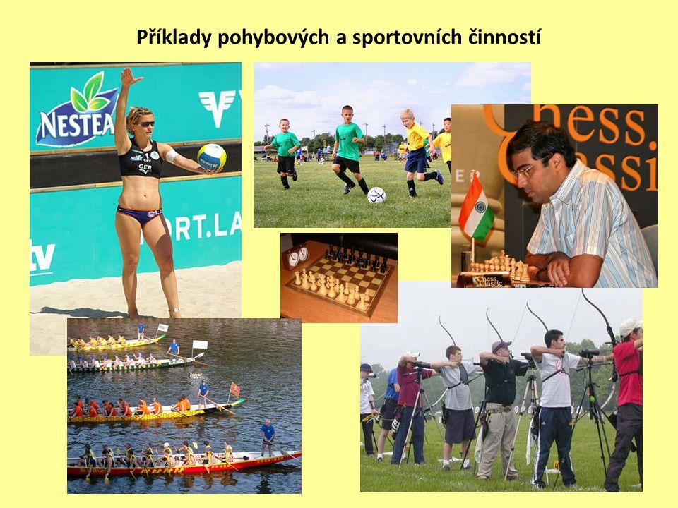 .. Příklady pohybových a sportovních činností