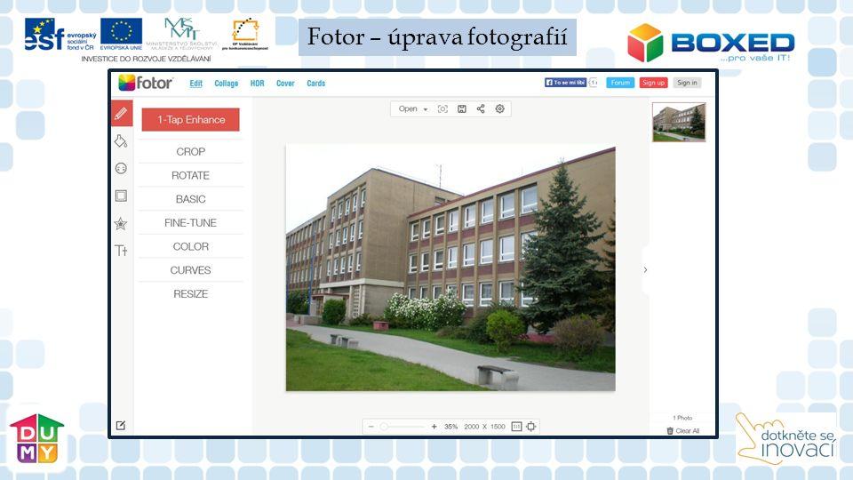 Fotor – úprava fotografií